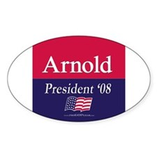 """""""Arnold for President"""" Oval Bumper Stickers"""