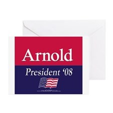 """Arnold for President"" Greeting Cards (6)"