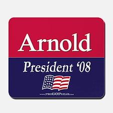 """Arnold for President"" Mousepad"