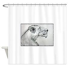Lion! lioness, wildlife art! Shower Curtain