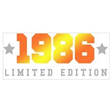 Limited Edition 1986 Birthday Shirt Poster