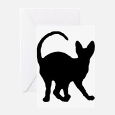 sphynx silhouette Greeting Cards