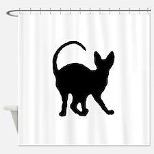 sphynx silhouette Shower Curtain