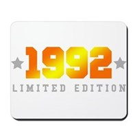 Limited Edition 1992 Birthday Shirt Mousepad