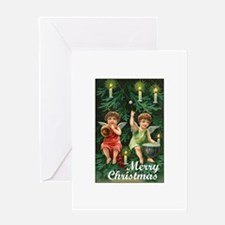 Victorian Tree Angels Greeting Card