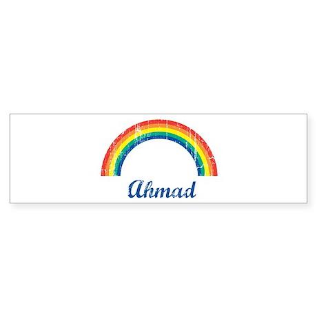 Ahmad vintage rainbow Bumper Sticker