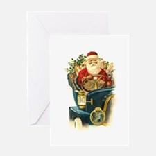 Santa's Hot Rod Greeting Card
