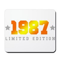 Limited Edition 1987 Birthday Shirt Mousepad