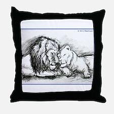 Lions! Wildlife art! Throw Pillow