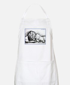 Lions! Wildlife art! Apron