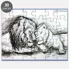 Lions! Wildlife art! Puzzle