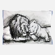 Lions! Wildlife art! Pillow Case