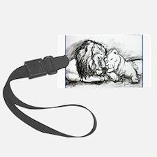 Lions! Wildlife art! Luggage Tag