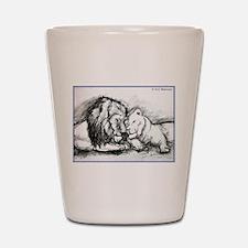 Lions! Wildlife art! Shot Glass