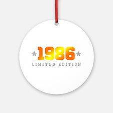 Limited Edition 1986 Birthday Shirt Round Ornament
