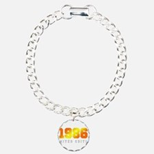 Limited Edition 1986 Birthday Shirt Charm Bracelet