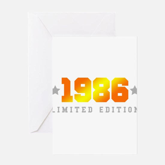 Limited Edition 1986 Birthday Shirt Greeting Cards