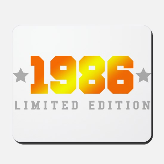 Limited Edition 1986 Birthday Shirt Mousepad