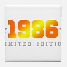 Limited Edition 1986 Birthday Shirt Tile Coaster