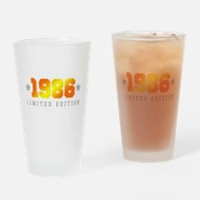 Limited Edition 1986 Birthday Shirt Drinking Glass