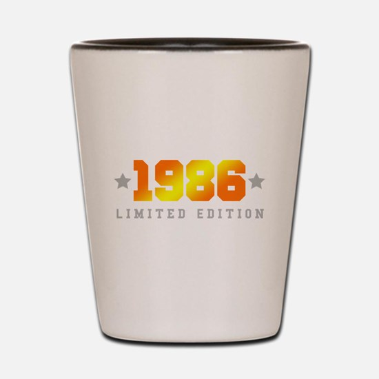 Limited Edition 1986 Birthday Shirt Shot Glass