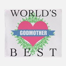 World's Best Godmother Throw Blanket