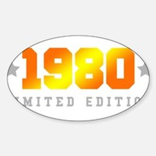 Limited Edition 1980 Birthday Shirt Decal