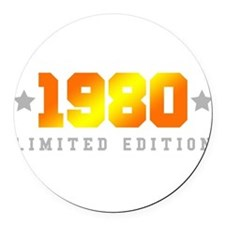 Limited Edition 1980 Birthday Shirt Round Car Magn
