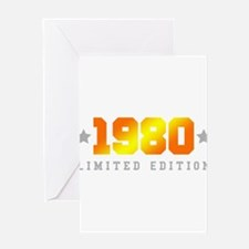 Limited Edition 1980 Birthday Shirt Greeting Cards