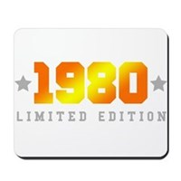 Limited Edition 1980 Birthday Shirt Mousepad