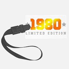 Limited Edition 1980 Birthday Shirt Luggage Tag