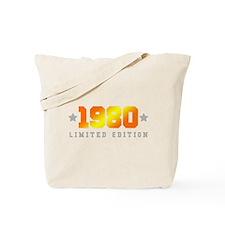 Limited Edition 1980 Birthday Shirt Tote Bag