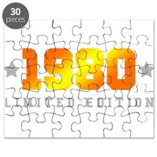 Limited Edition 1980 Birthday Shirt Puzzle