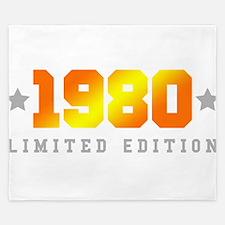 Limited Edition 1980 Birthday Shirt King Duvet