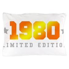 Limited Edition 1980 Birthday Shirt Pillow Case