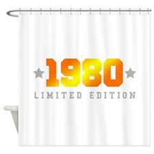 Limited Edition 1980 Birthday Shirt Shower Curtain