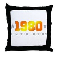 Limited Edition 1980 Birthday Shirt Throw Pillow