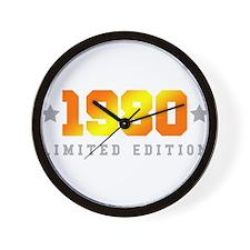 Limited Edition 1980 Birthday Shirt Wall Clock