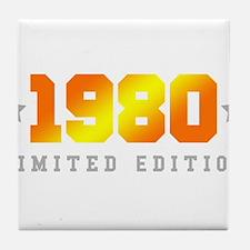 Limited Edition 1980 Birthday Shirt Tile Coaster