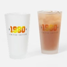 Limited Edition 1980 Birthday Shirt Drinking Glass