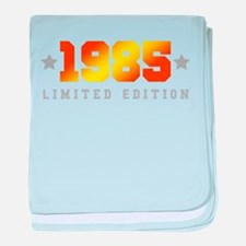 Limited Edition 1985 Birthday Shirt baby blanket