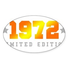 Limited Edition 1972 Birthday Decal