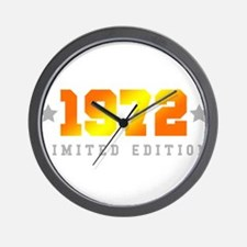 Limited Edition 1972 Birthday Wall Clock