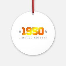 Limited Edition 1950 Birthday Round Ornament