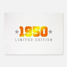 Limited Edition 1950 Birthday 5'x7'Area Rug