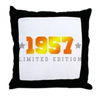 Limited Edition 1957 Birthday Throw Pillow