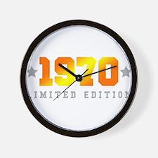 Limited Edition 1970 Birthday Wall Clock