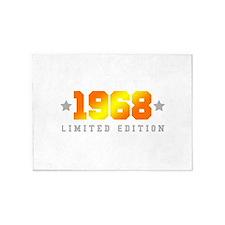 Limited Edition 1968 Birthday 5'x7'Area Rug