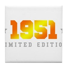 Limited Edition 1951 Birthday Tile Coaster