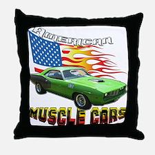 Green Barracuda Throw Pillow